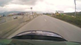 BURSA, TURKEY - MAY 2015: Gopro traffic timelapse on road stock video footage