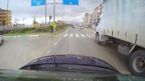BURSA, TURKEY - MAY 2015: Gopro traffic timelapse on road stock footage
