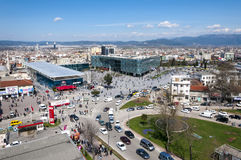 Bursa, Turkey. View from Kent Meydani, the shopping center in central district of Bursa city, Marmara, Turkey Royalty Free Stock Photography