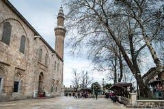 Bursa Uroczysty meczet Cami lub Ulu jesteśmy meczetem w Bursa, Turcja Zdjęcie Royalty Free