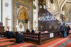 Bursa Uroczysty meczet Cami lub Ulu jesteśmy meczetem w Bursa, Turcja Obraz Royalty Free