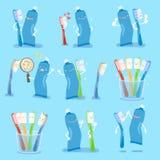 Bursh и затир зуба Стоковые Изображения