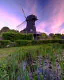 Summer sunrise over Bursledon Windmill, Hampshire, UK royalty free stock photo