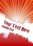 Burst Background. Vector grunge background with copy space for your text Royalty Free Stock Images