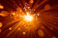 Yellow Orange Burst background Royalty Free Stock Photos