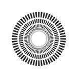 Burst, beams, rays geometric design circles. Vector illustration isolated on white background. Burst, beams, rays geometric design circles. Vector illustration royalty free illustration