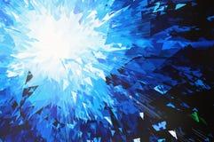 Burst of blue planet Stock Images