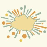 Burst and boom cloud in retro style Royalty Free Stock Photo