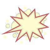 Burst and boom icon in retro style Stock Image