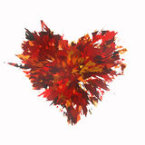 Burst of broken heart on white backgrounds Royalty Free Stock Photography