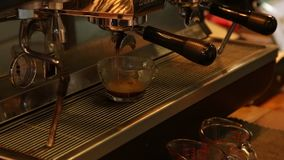 Burst of coffee. From coffee machine stock footage
