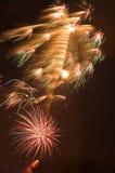 Burst dei fuochi d'artificio fotografia stock libera da diritti