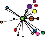 Burst del cerchio Immagini Stock