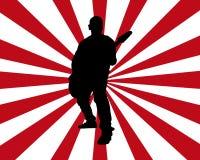Burst del chitarrista Immagini Stock Libere da Diritti