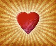 Burst del cuore Fotografia Stock