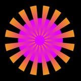 Burst dell'arancio Fotografia Stock