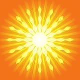 Burst dell'indicatore luminoso di estate illustrazione di stock