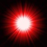 Burst della luce rossa illustrazione di stock