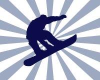 Burst dello Snowboarder Immagini Stock Libere da Diritti