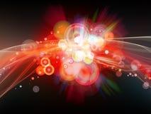 Burst di colore esplosivo Fotografie Stock