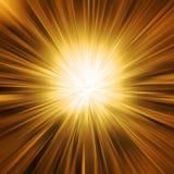 Burst dorato dell'indicatore luminoso illustrazione di stock