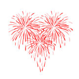 Burst of feeling. Isolated abstract red heart on white background Royalty Free Stock Photography