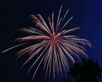 3 burst fireworks Στοκ Φωτογραφίες