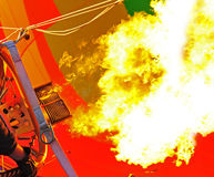 Burst of flames Stock Images