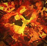 Burst fragment of fire broken Royalty Free Stock Images