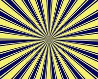 Burst giallo e blu del raggio Immagine Stock Libera da Diritti