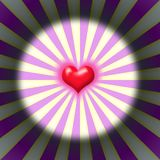 Burst heart Stock Photo