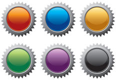 Burst icons. Colorful assorted burst icon symbols Royalty Free Stock Image