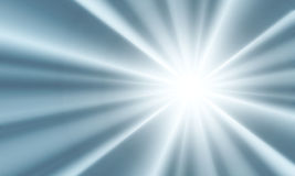 Burst of light. Digitally created background with a burst of lightblue light Stock Image