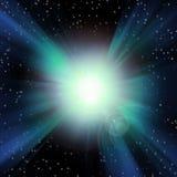 Burst of Light. In Space Stock Photo