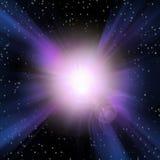 Burst of Light. In Space stock illustration