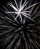 Burst of light. A burst of white fireworks Stock Images