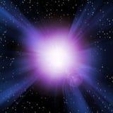 Burst of Light Space Stock Photo