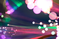 Burst of lights. Burst of colour lights in Madrid Royalty Free Stock Photos