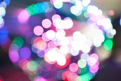 Burst of lights. Burst of colour lights in Madrid Royalty Free Stock Photo