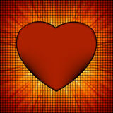 Burst Mosaic heart card template. EPS 8 Royalty Free Stock Images