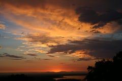 Burst of Orange. Colorful orange sunset stock photography