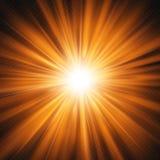 Burst of red orange glowing light effect isolated on transparent background. EPS 10 royalty free illustration