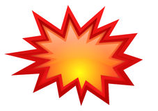 Burst star boom Royalty Free Stock Photo