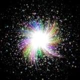 Burst star texture - sky at night. Beautiful color burst star texture - sky at night Royalty Free Stock Images