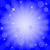 Burst and stars background Stock Photography