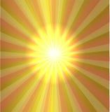 Burst stars light descending on yellow background Stock Image