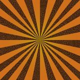 Burst on a Swirly Background / Vector File. Change the colors as you wish Stock Photo