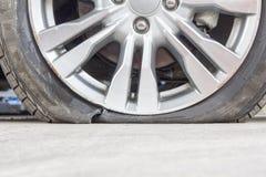Burst tire Royalty Free Stock Photos