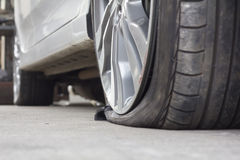 Burst tire Royalty Free Stock Photography