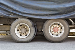 Burst tire truck Stock Photos